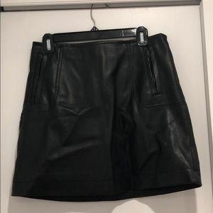 H&M Black Pleather Skirt